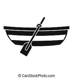 Fishing boat icon, simple style - Fishing boat icon. Simple...