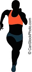 female athlete runner