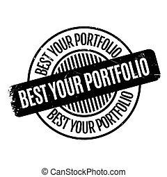 Best Your Portfolio rubber stamp rubber stamp. Grunge design...