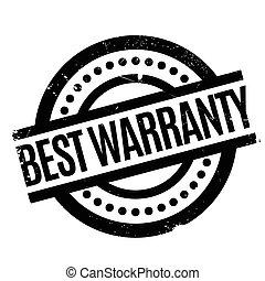 Best Warranty rubber stamp. Grunge design with dust...