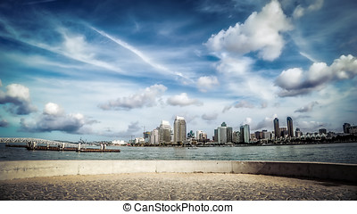 Bikeway - Looking at San Diego from the Bayshore Bikeway in...