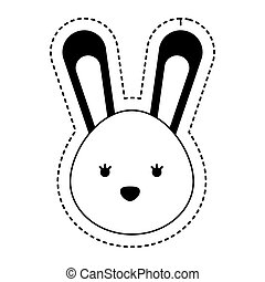 cute rabbit isolated icon vector illustration design