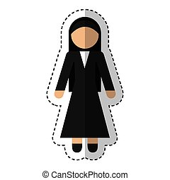 nun avatar isolated icon vector illustration design