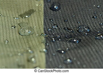 water repel textile material - detail of water repel textile...