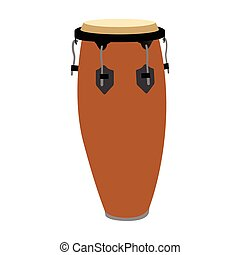 Isolated musical instrument - Isolated conga drum on a white...