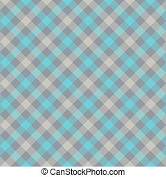 Blue gray check plaid fabric texture seamless pattern....