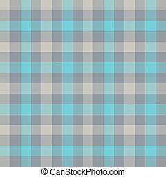 Blue gray check tablecloth seamless pattern. Vector...