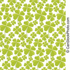 Clovers seamless pattern St Patricks Day. Vector...