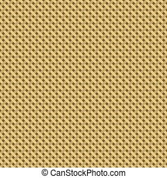 Woven canvas burlap seamless diagonal texture. Vector...