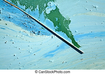 Blue-green algae on a lake in denmark - Blue-green algae...