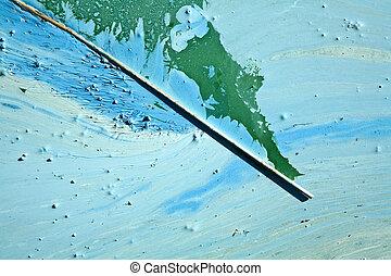 Blue-green algae on a lake in denmark - Blue-green algae...