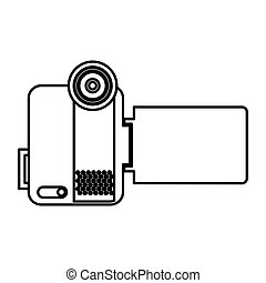 handy cam device isolated icon