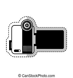 handy cam device isolated icon vector illustration design