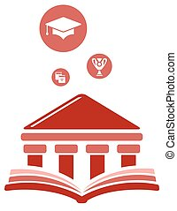 high education symbol - concept career high education symbol...