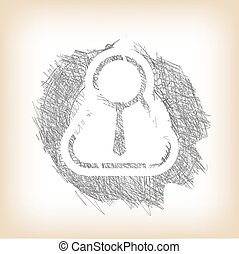 Vector hand written manager icon