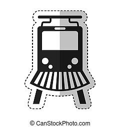 train silhouette isolated icon
