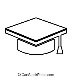 graduate hat isolated icon
