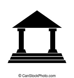 house court isolated icon vector illustration design