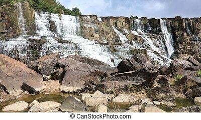 Pongour waterfall in Dalat, Vietnam - Landscape with flowing...
