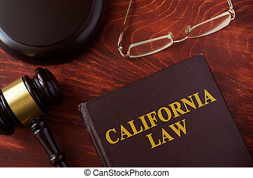 Book with title California law. - Book with title California...