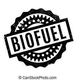 Biofuel rubber stamp. Grunge design with dust scratches....