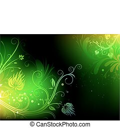 floral background - Vector illustration of futuristic...