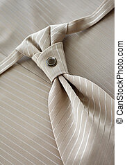 Beige tie of the groom