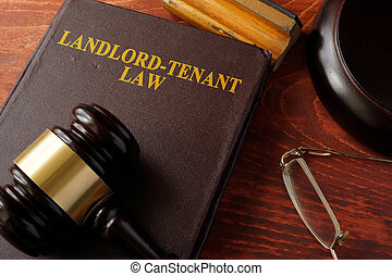 Book with title Landlord-Tenant Law. - Book with title...