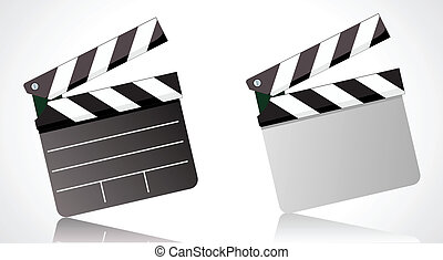 movie clapper board - Vector illustrator of a movie clapper...