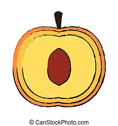 peach fruit icon