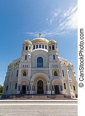 Naval cathedral of Saint Nicholas in Kronstadt,...