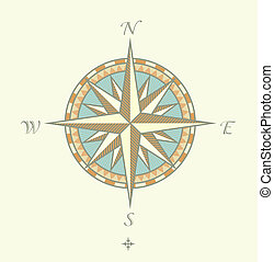 Compass Windrows - Vector illustration of Compass Windrows...