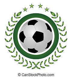Isolated soccer emblem