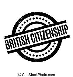 British Citizenship rubber stamp. Grunge design with dust...