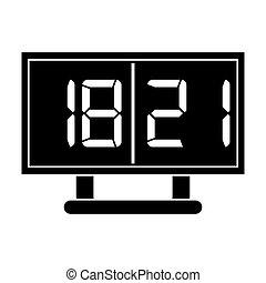 silhouette board score american football icon vector...