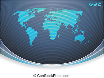 abstract background - Vector illustration of Global...