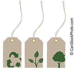 price tags - Vector illustration Set of eco product price...