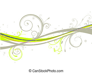 Floral background - Vector illustration of Floral Decorative...