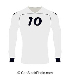 Isolated sport shirt on a white background, Vector...