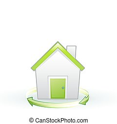 eco icon - Vector illustration of Single eco icon - Green...