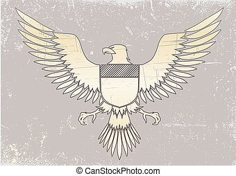 coat-of-arms bird - Vector illustration of coat-of-arms bird...