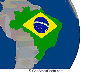 Brazil with its flag
