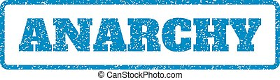 Anarchy Rubber Stamp - Blue rubber seal stamp with Anarchy...