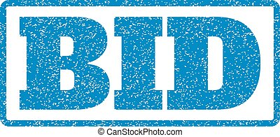 Bid Rubber Stamp - Blue rubber seal stamp with Bid text....