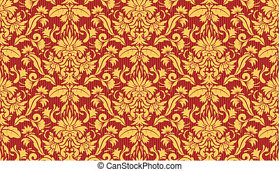 Decorative wallpaper background - Vector illustration of...