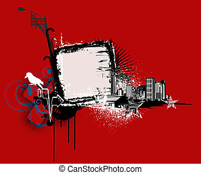 urban background - Vector illustration of urban background...