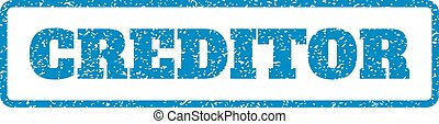 Creditor Rubber Stamp - Blue rubber seal stamp with Creditor...