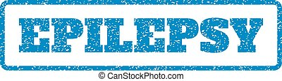 Epilepsy Rubber Stamp - Blue rubber seal stamp with Epilepsy...