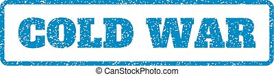 Cold War Rubber Stamp - Blue rubber seal stamp with Cold War...