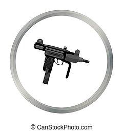 UZI weapon icon cartoon. Single weapon icon from the big...